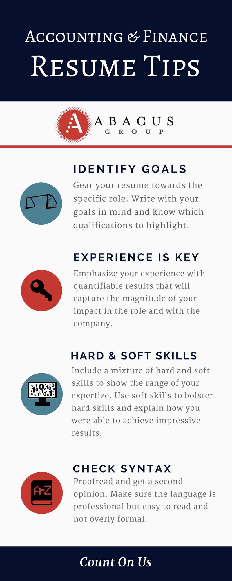 Accounting and Finance Resume Tips [Infographic] — Abacus ...