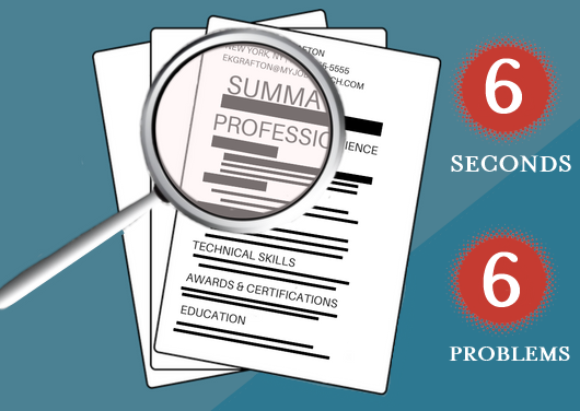 resume review six seconds six problems - Resume Review